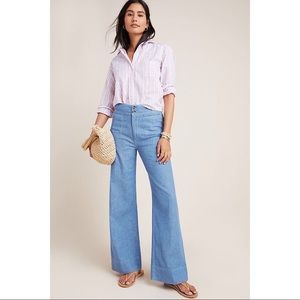 Pilcro High Rise Wide Leg Trouser Jeans